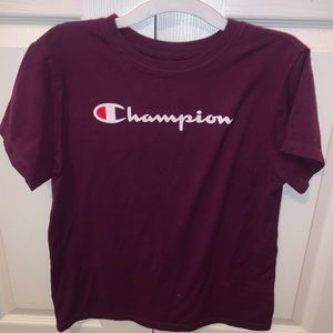 purple champion shirt